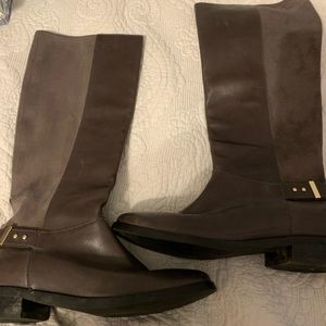 Cole Haan Grey Suedeand leather riding boots 7 1/2